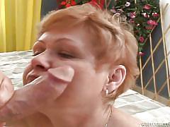 Granny fucked hard @ grandma's hairy pussy