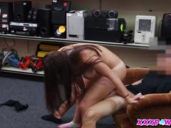 Busty college chick pawns in her body piece by piece
