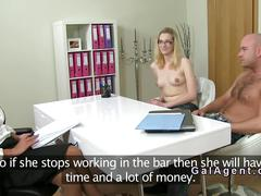 Amateur couple fucking in fake casting