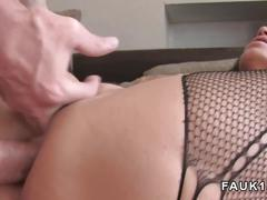 Big boobs milf anal banged in uk casting