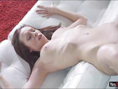 Tight brunette babe tracy gets her ass fucked and jizzed