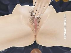 3d anime schoolgirl gets fucked upskirt