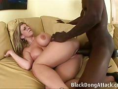Sara jay fucks a big black dick