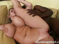 Sara jay fucks a big black dick