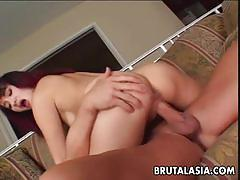Sucking a cock and getting ass pounded
