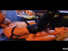 brooke belle, nick manning, blowjob, tattoo, facial, stockings, boots, pornstar, fishnet, cowgirl, smoking, cigarette, fishnets, high heels, blow job, fishnet stockings, missionary