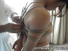 Asian amateur beauty wild bondage
