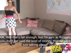 Fakeagentuk hungarian babe shows great blowjob skills in casting