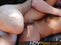 brunette, hardcore, threesome, hd, outdoors, more