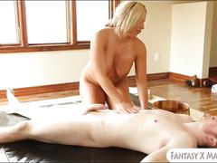 Big boobs blonde masseuse olivia austin fucked by her client