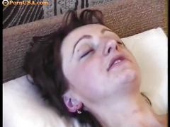 Amateur milf play with bottle and cock