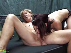 Mature slut has a lesbo act with the granny