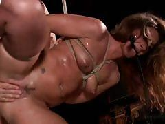 Redhead slave gets bound and banged very hard