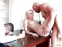 Hungry for cock blonde gets banged