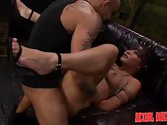 bdsm, rough sex, vibrator, blindfolded, mouth fuck, disgrace, brunette babe, rope bondage, sexual disgrace, fetish network, mena li
