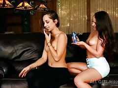 Remy and lola undress to have fun
