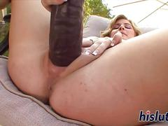 big boobs, blonde, masturbation, dildo