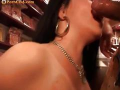 Chubby girl fucked in the sexshop