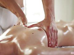 Oily massage and big dick fucking for destiny love