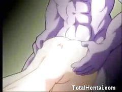 Purple hentai monster fucking a busty babe