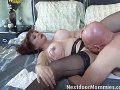 Horny milf loves hard cock