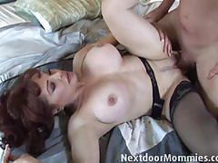 Horny milf loves hard cock