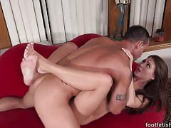 Tattoo jojo kiss swallows this hard cock