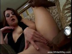 Skinny milf tries anal with bbc