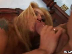 Blonde milf has a nice dick to fuck and take