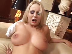 Blonde russian party girl takes monster cock in her ass