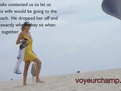Voyeurchamp.com mrs brooks nude beach voyeur video! hubby set her up!