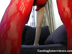 Oriental babe with pigtails gets pussy fucked hard