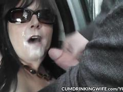 Slutwife fucked by plenty of guys at the car parks