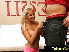 Marsha may gives a sloppy bj