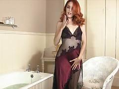 Lusty redhead amarna miller gets horny all alone