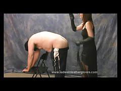 Dominant mistress punishes her slave