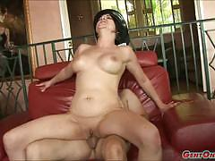 Racy cassidy lynn rides this hard cock