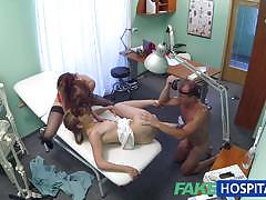 Hot nurse joins doctor and sexy patient