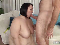 Bbw devours this hard cock