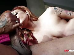Wild babe dahlia sky black cock lover