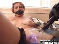 Dominated redhead gets her pussy teased