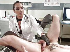 Transsexual doctor puts her dick in patient's mouth