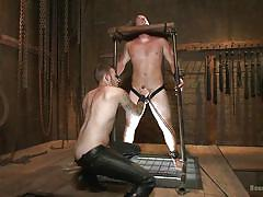 Christian and kip have hot encounters in the dungeon