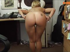 Cute blonde pet lover pawns her pussy for a chunk of money