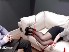 Brutally hardcore bdsm rope sex with anal action