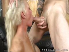 Incredible choking mouth fuck of blonde