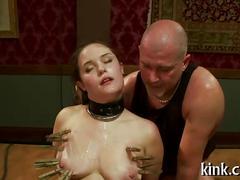 Hot pretty babe dominated bondage