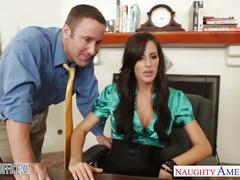 Stockinged honey kortney kane gets fucked in the office
