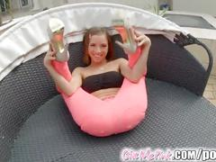 Givemepinks tina hot fucks her pussy and ass with her new sex toys