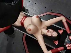 Bizarre hentai big tits fucking with gorilla man